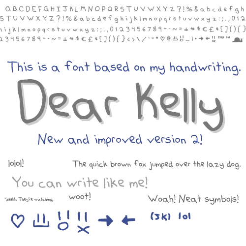 Dear Kelly Free Handwritten Font by Sam Keddy