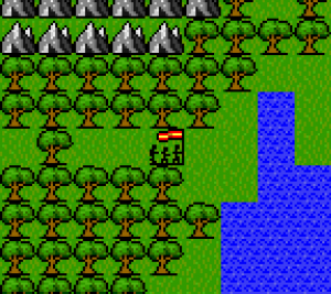 Gurk 8 Bit Rpg Screenshot Overworld Forest Mountains Water
