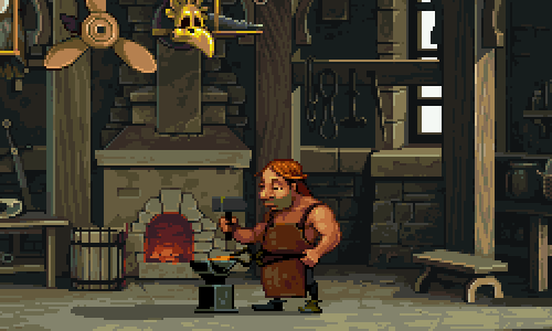 Knight Fall Screenshot Blacksmith Shop