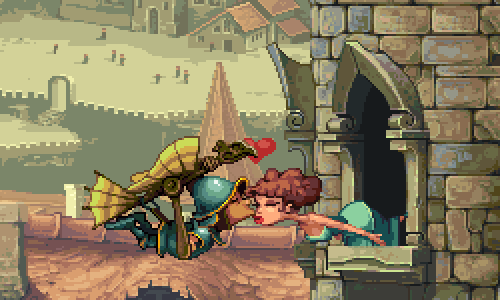 Knight Fall Screenshot Kissing Cute Brunette Girl