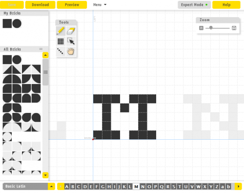 Making A Pixel Font In Fontstruct