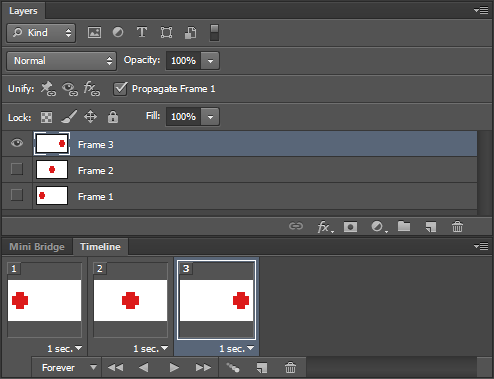 Photoshop Animation Active Layers