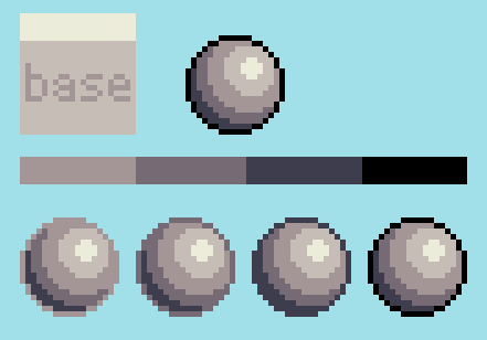 Pixel Art Colored Outlines On Shaded Sprites