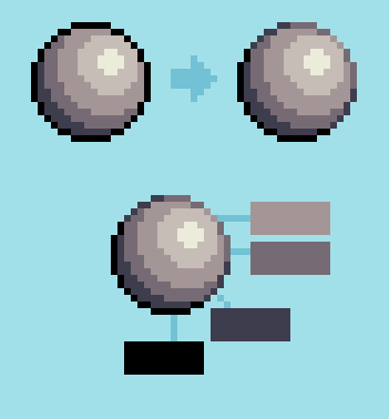 Pixel Art Selective Outlining