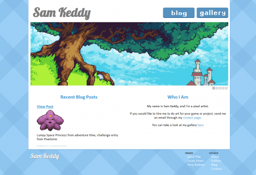 SamKeddy.com Website Layout 2014